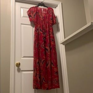 Fun patterned maxi dress